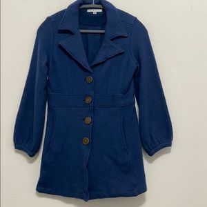 Cabi Peacoat in blue and gold jacket
